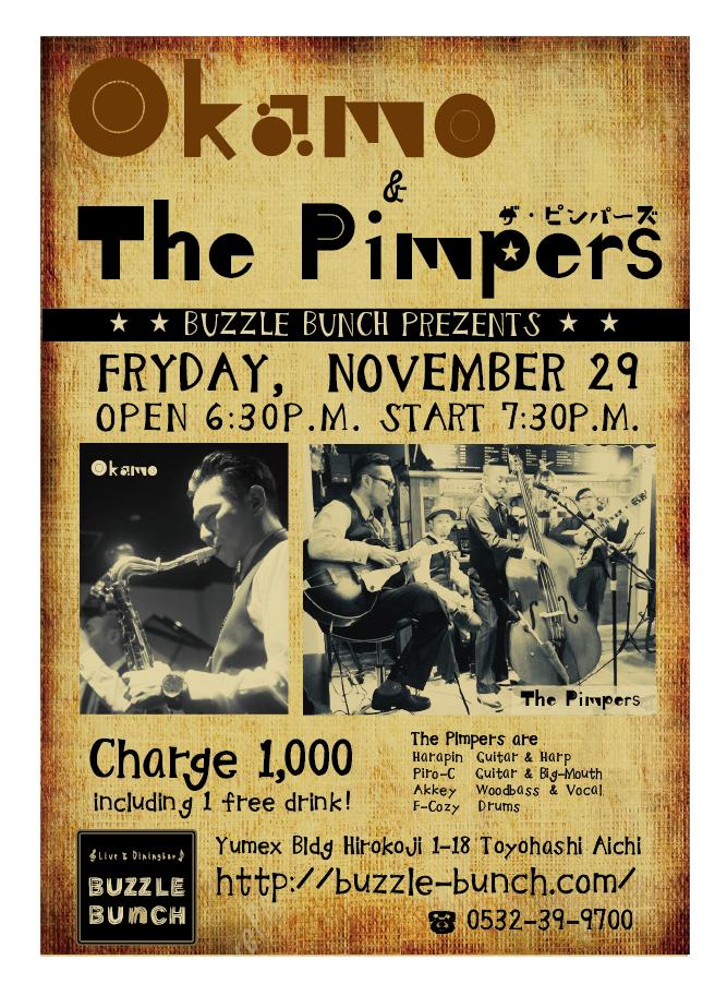 2019年11月29日(金) Okamo&The pimpers